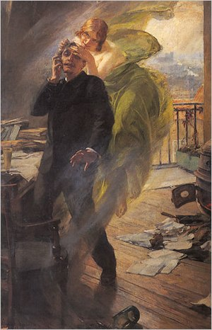 Absinthe - Albert Maignan's Green Muse (1895): a poet succumbs to the Green Fairy.