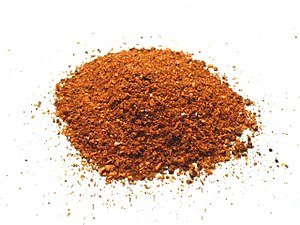 Aleppo pepper, a seasoning produced in Syria. ...