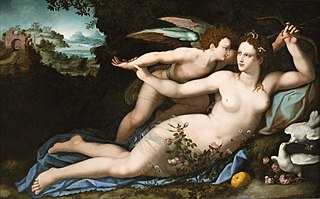 Vénus désarmant Cupidon