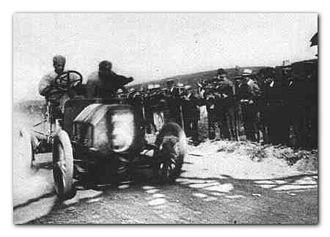 1906 Targa Florio - Alessandro Cagno drives Itala No3 to victory at the inaugural Targa Florio in 1906
