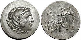 Aleksandro la Granda Tetradrachm de la Temnos Mento