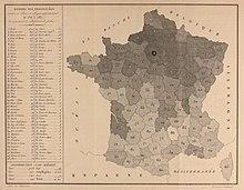 Carte De France Lorigine Des Prostitues Paris Publie Par Alexandre Parent Du Chtelet En 1836 Dans Un Ouvrage Intitul La Prostitution