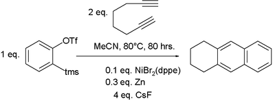 Alkyne trimerization involving an aryne generated in situ
