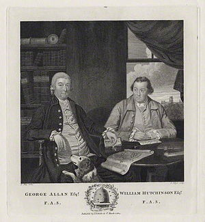 William Hutchinson (topographer) - George Allan and William Hutchinson (right), 1814 engraving by Joseph Collyer the Younger.