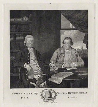 George Allan (antiquary) - George Allan (left) and William Hutchinson, 1814 engraving by Joseph Collyer the Younger.