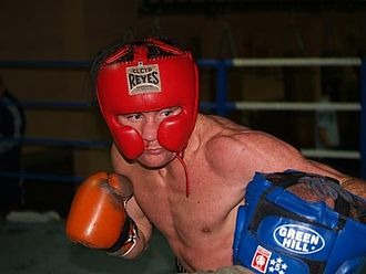 Michael Gomez - Gomez sparring with headgear