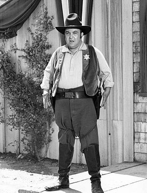 Allan Sherman - Sherman as a sheriff on The Loner in 1965.