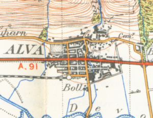 Alva, Clackmannanshire - Map of Alva from 1945