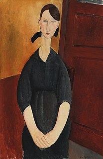<i>Portrait of Paulette Jourdain</i> painting by Amedeo Modigliani
