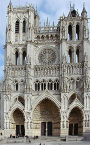 The cathedral in Amiens