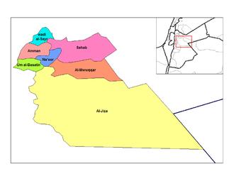 Nahias of Jordan - Nahias of Amman