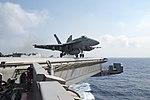 An F-A-18E Super Hornet launches from USS Dwight D. Eisenhower. (27859772622).jpg