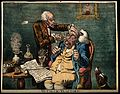An operator treating the carbuncled nose of an obese patient Wellcome V0011090.jpg