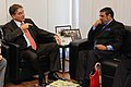 Anand Sharma in a bilateral meeting with his counterpart the Minister of Development, Industry and Foreign Trade, Brazil, Mr. Fernando Pimentel, in Brasilia, Brazil on June 11, 2012 (1).jpg