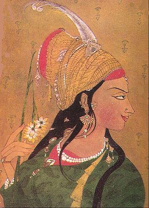 Imtiaz Ali Taj - Anarkali as illustrated on the title page of Imtiaz Ali Taj's book in 1922