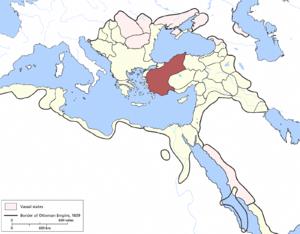 Anatolia Eyalet - Image: Anatolia Eyalet, Ottoman Empire (1609) Kopie