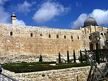 Ancient Jerusalem, Al-Aqsa mosque from Davidson archeologic garden.jpg