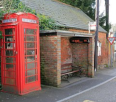 Ancient and Modern, bus shelter, Whiteparish - geograph.org.uk - 368364.jpg