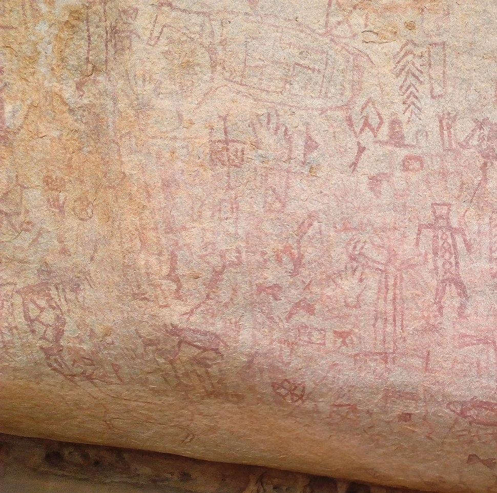 Ancient rock art in Balichakra near Yadgir town