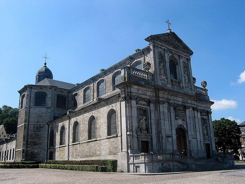 Andenne (Belgium), the St. Begge collegiate church (1773).