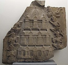 Relief of a multi-storied temple, 2nd century CE, Ghantasala Stupa.[166][167]