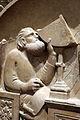 Andrea pisano e collaboratore, gionitus ovvero l'astronomia, 1343-48, dal lato sud del campanile 03 quadrante.JPG