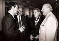 Andrew Heinze, Stanley Nel, Charlotte Shultz and George Shultz 1997.jpg