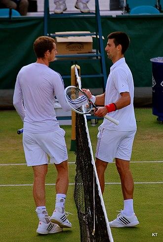 Djokovic–Murray rivalry - Murray and Djokovic in 2012.