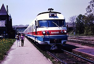 Wolverine (train) - A Turboliner at Ann Arbor in 1975