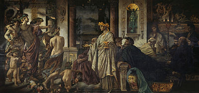 Painting of a scene from Plato's Symposium (Anselm Feuerbach, 1873) (Source: Wikimedia)