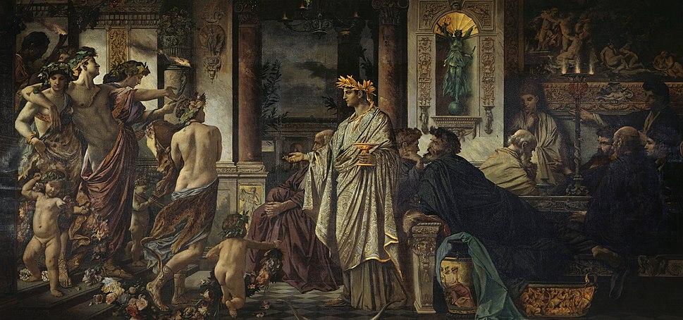 Anselm Feuerbach - Das Gastmahl. Nach Platon (zweite Fassung) - Google Art Project