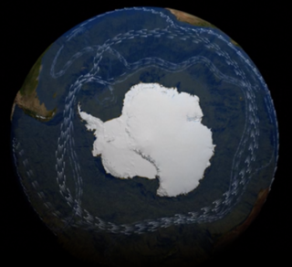 Antarctic Circumpolar Current Ocean current that flows clockwise from west to east around Antarctica
