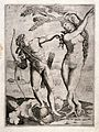 Apollo and Daphne. Engraving, 1518. Wellcome V0035789.jpg