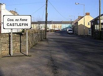 Castlefin - Approaching Castlefinn from the south