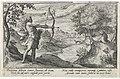 Arcas schiet op Callisto Metamorfosen van Ovidius (serietitel), RP-P-OB-15.903.jpg