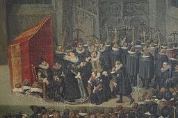 Archduchess Isabella at thecrosbowmen's tournament at the Sablon church Brussels (detail)
