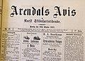 Arendals Avis hode 10.okt.1885.jpg