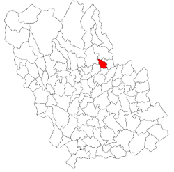 Location of Ariceştii Zeletin