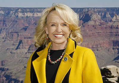 Brewer at the reopening of Grand Canyon National Park in 2013 Arizona Governor Jan Brewer at the reopening of Grand Canyon National Park in 2013.jpg