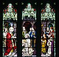 Armagh Roman Catholic Cathedral of St. Patrick West Aisle Window 01 Upper Lights St. Patrick receiving his mission 2013 09 24.jpg