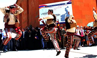 Culture of Armenia - Yarkhushta performed by Karin folk dance troupe from Yerevan.