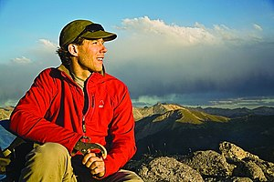 English: Digital photograph of Aron Ralston in...