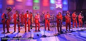 Banda music - La Arrolladora Banda El Limón in 2012.