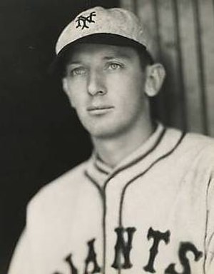 Washington State Cougars baseball - Art McLarney, while with the MLB's New York Giants.