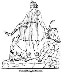 Artemis (Diana), the Huntress. - Engravings on Wood.jpg