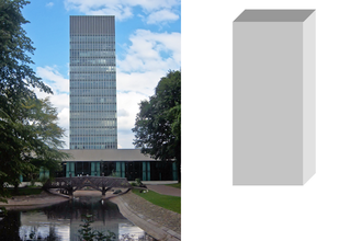 Massing - The Arts Tower in Sheffield has a tall, lightweight, cuboid massing.