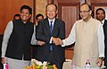 Arun Jaitley, the President, World Bank Group, Dr. Jim Yong Kim and the Minister of State (Independent Charge) for Power, Coal and New and Renewable Energy (2).jpg