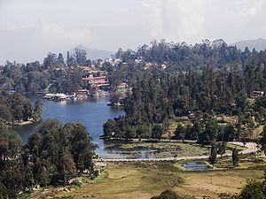 Kodaikanal Lake - Panoramic view of Kodaikanal Lake and the surrounding Kodaikanal town