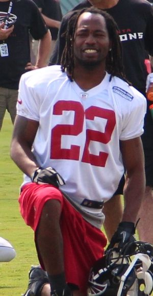 Asante Samuel - Asante Samuel at Falcons training camp, 2013