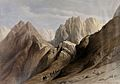Ascent of the lower ranges of Mount Sinai. Coloured lithogra Wellcome V0049447.jpg